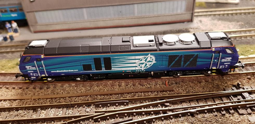 2D-022-011S Dapol N Gauge Class 68 034 DRS Compass Locomotive