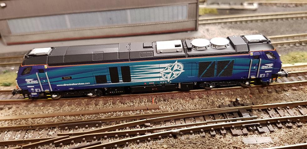 2D-022-008S Dapol N Gauge Class 68 'Rapid' DRS Compass Locomotive