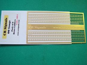 OO Gauge Brass ladders (Pack of 6)