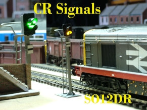 OO Gauge 2 Aspect Distant Signal with Safety Ring