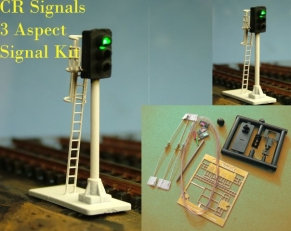 N Gauge 2 x 3 Aspect Signals Kit