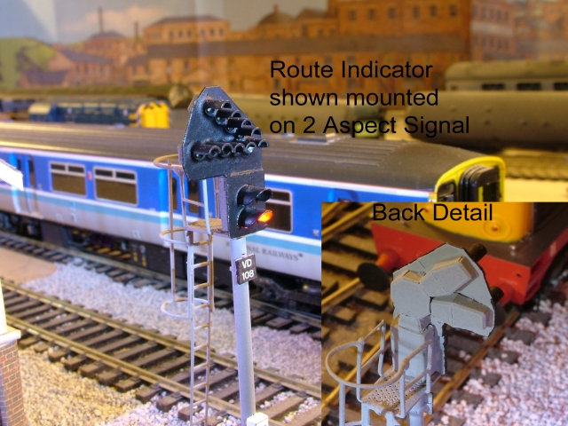 OO Gauge Position 1, 2 and 3 Multiple Route Indicator