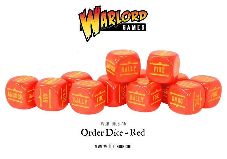 Bolt Action Order Dice (Red) x 12