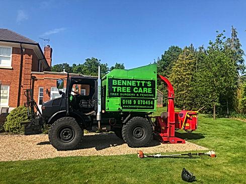 bennetts tree care, tree surgeon unimog in wokingham berkshire