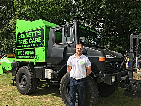 Bennetts Tree Cares unimog tree surgeon, tree care woodchipper