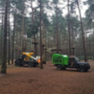 go ape bracknell with the cherry picker