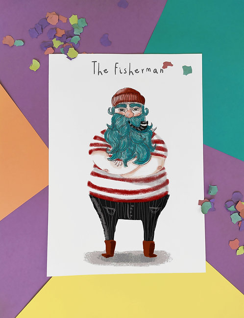 The Fisherman. Pack de 6 ilustraciones