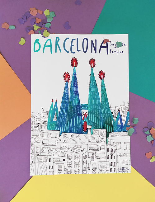 Barcelona. Pack 4 postales
