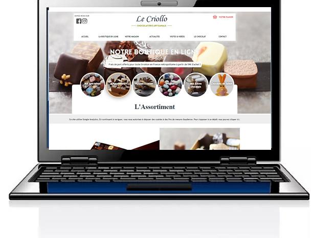 Site de vente de chocolats