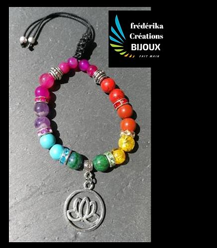 Bracelet 7 chakras Chance