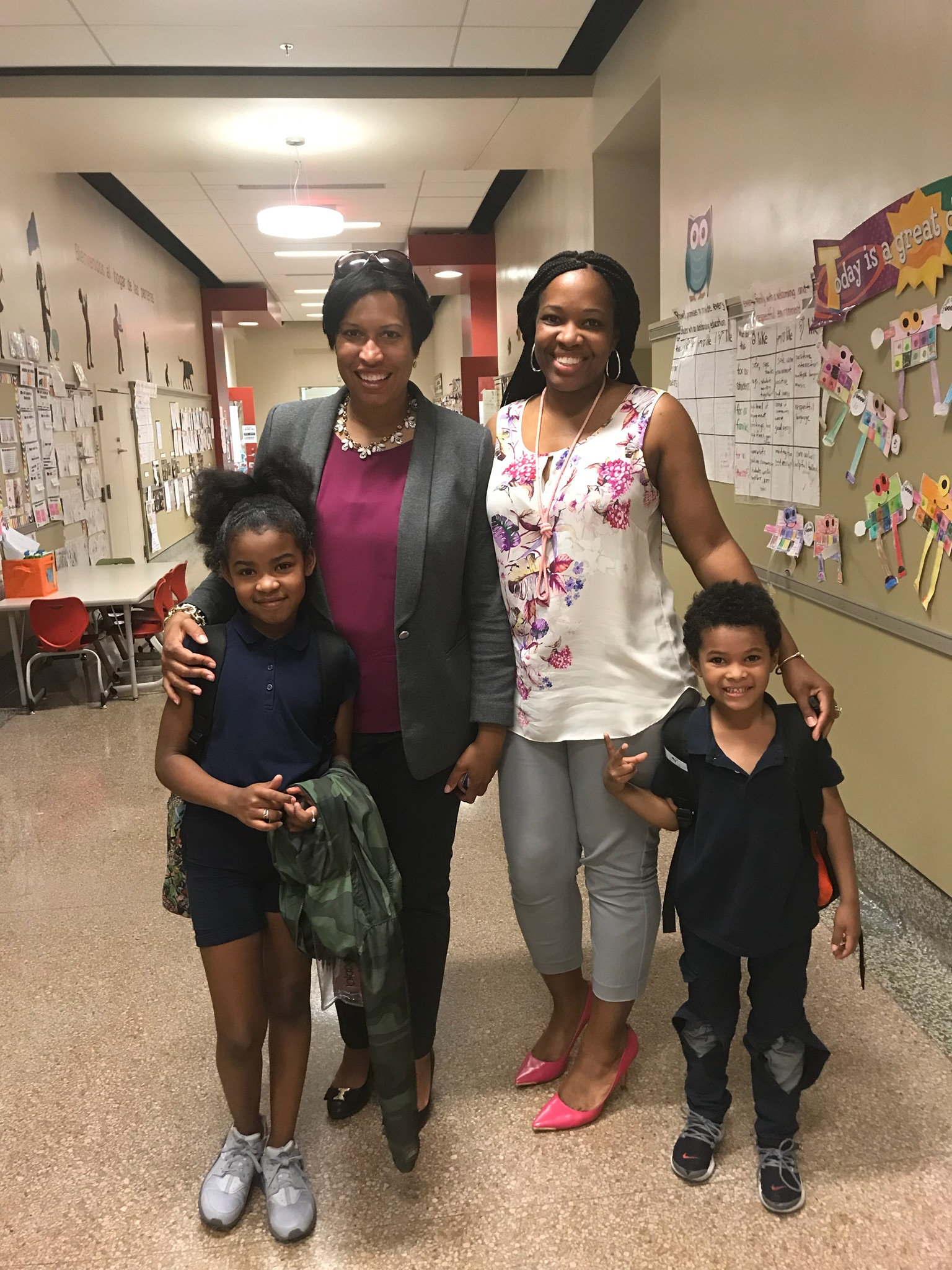 Mayor Bowser & Currie family