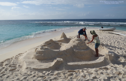Sand Castle on Prickly Pear Antigua