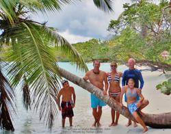 The crew at Maho Beach St John
