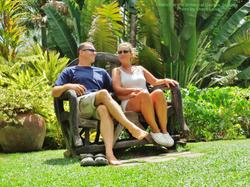 At the Botanical Garden St Kitts