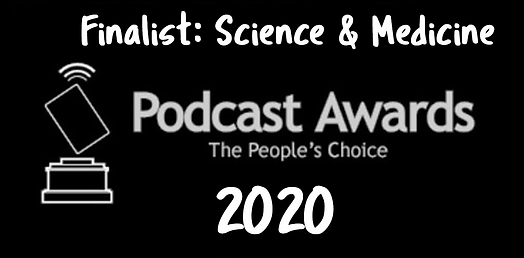 People's choice podcast awards logo. Fin