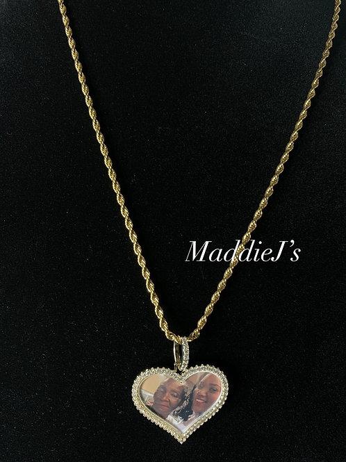 Heart Photo Pendant