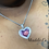 Thumbnail: Baguette Heart Photo Pendant