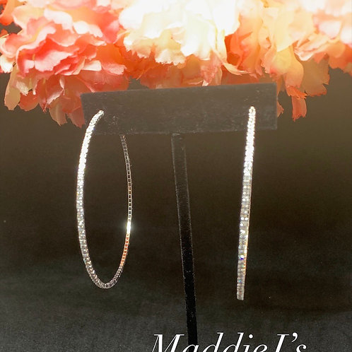 Thin Bling Hoops 60mm