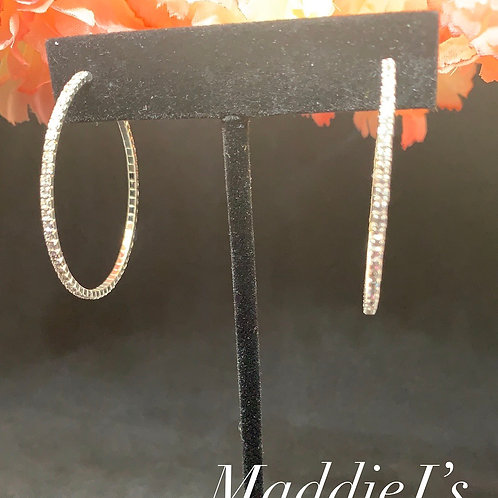 Thin Bling Hoops 40mm