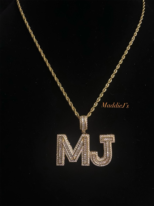 Box Baguette Nameplate with Chain