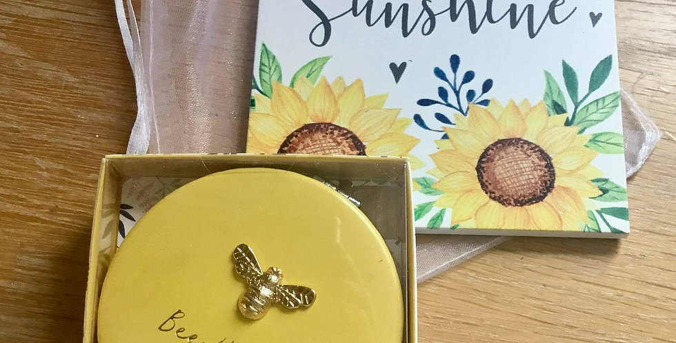 Bee Happy Compact and Sunshine Plaque