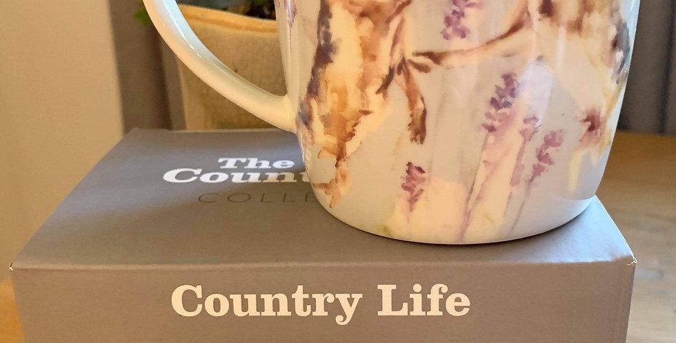 Pair of Boxing Hares Country Design Mug