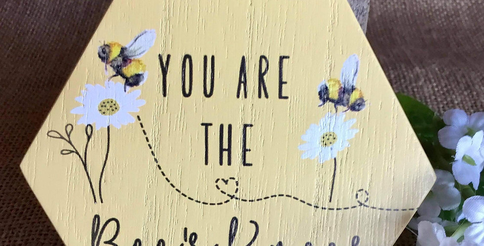 Rustic Honeycomb MIni Plaque - You are the Bees Knees