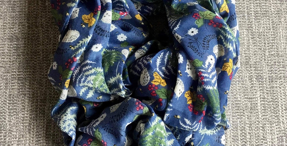 Blue Hedgehogs Scarf