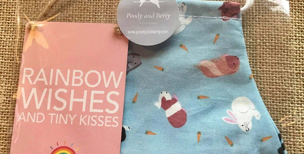 Small Pets Face Mask and mini sign  gift