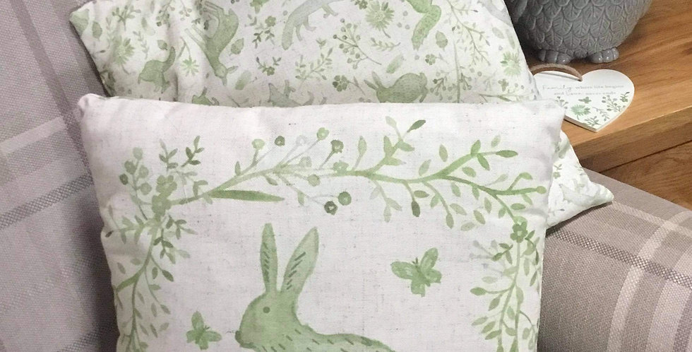 Sage Hare Cushion 35x35cm