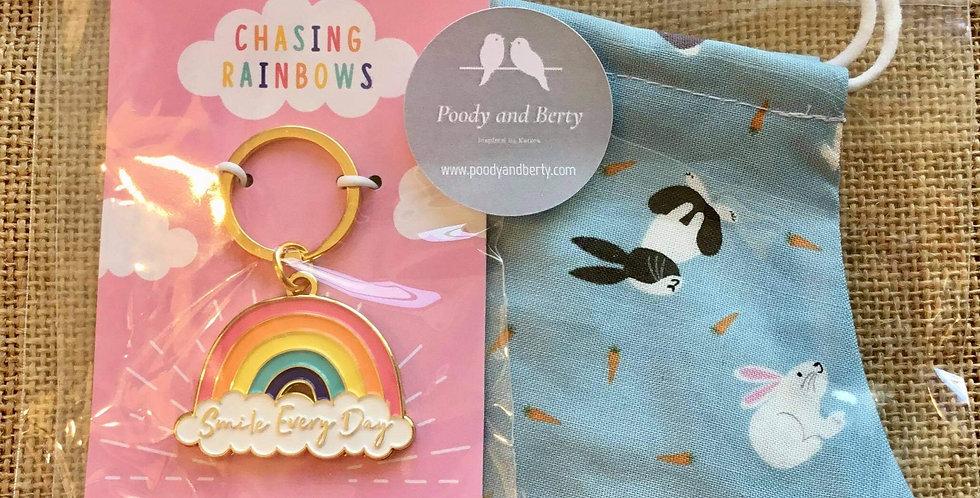 Small Pets Face Mask and Rainbow Keyring  gift