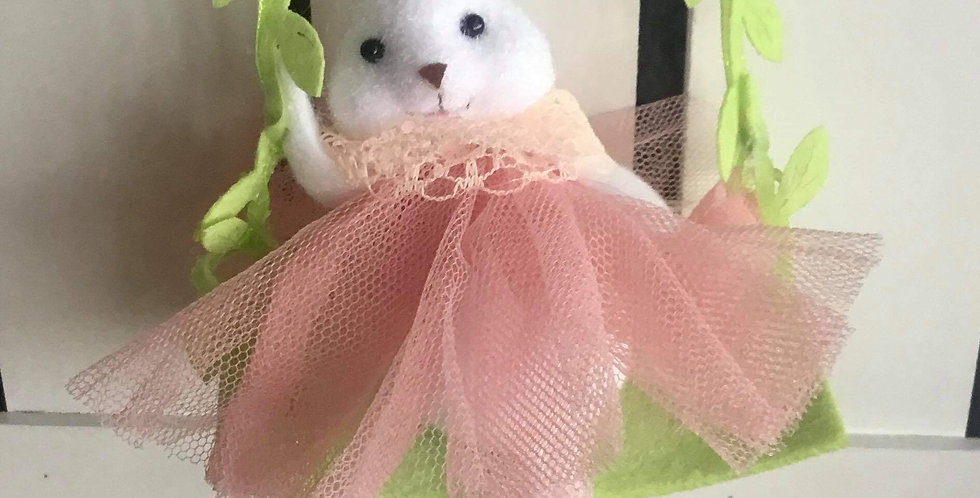 Swinging Bunny in Pink Tulle