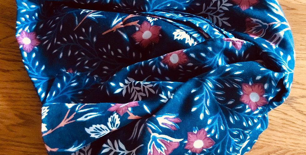Blue Tudor Rose Scarf by Hazel and Pip,