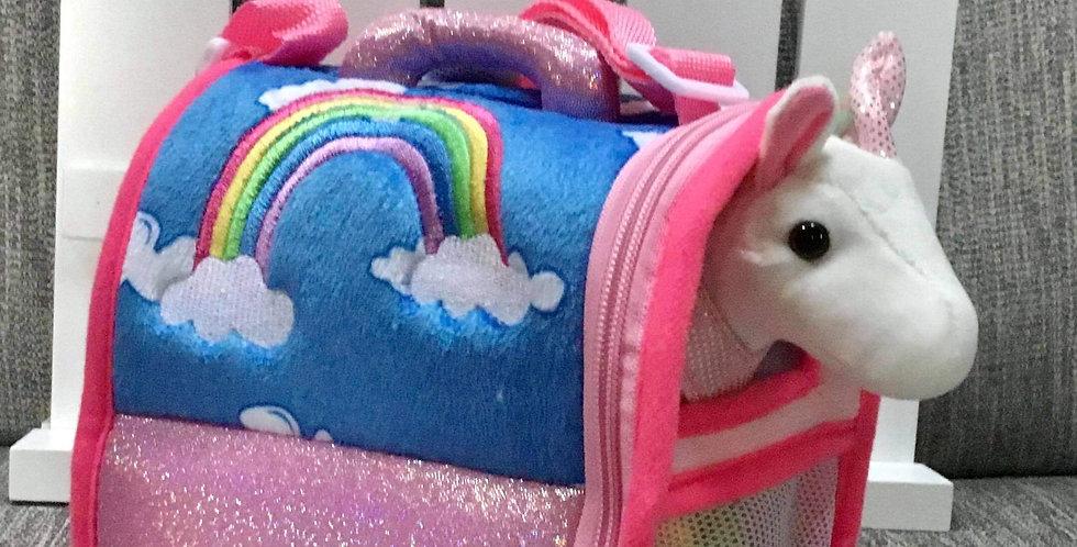 Plush Unicorn in Carry Case