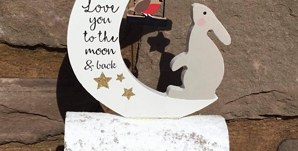 Christmas Hare - Love you to the moon and back