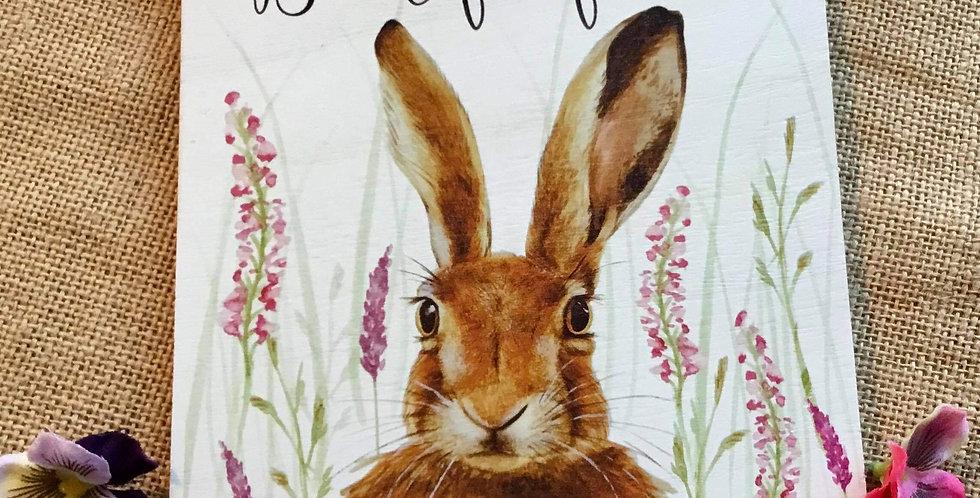 Rustic Hare Plaque - Beautiful Friend