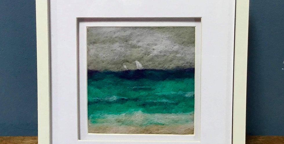 Seascape Needle Felt Art