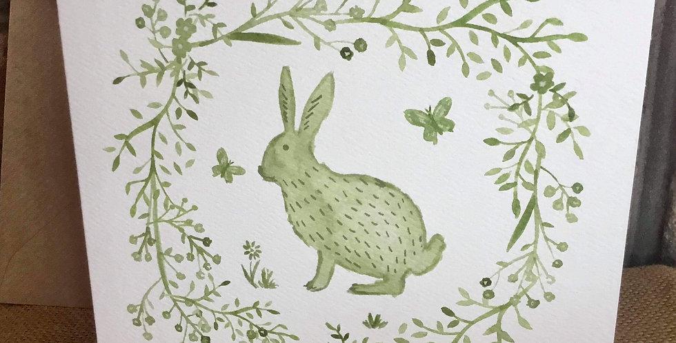 Sage Hare Greetings Card