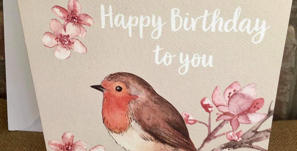 Robin Birthday Card
