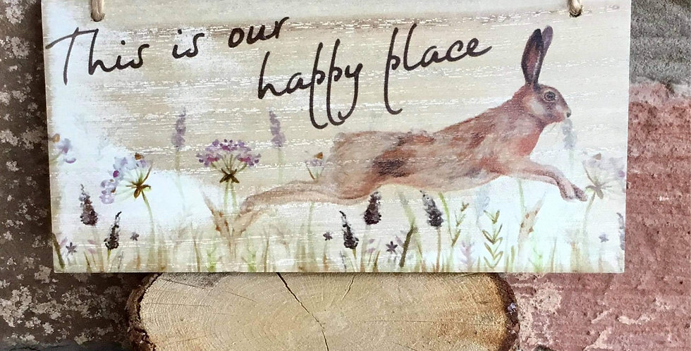 Rural plaque - This is our happy place
