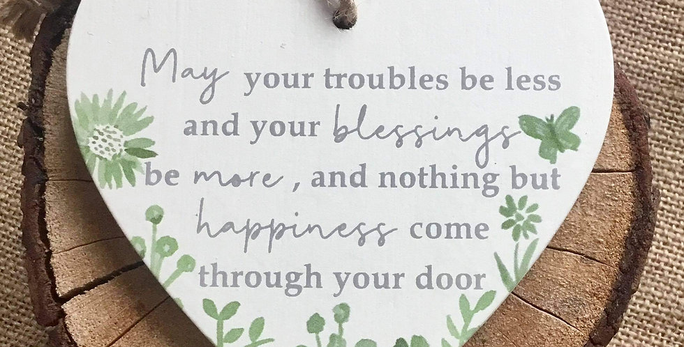 Sage Heart Hanger - May your troubles be less  ...