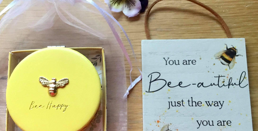 Yellow Bee Compact and plaque - Beautiful
