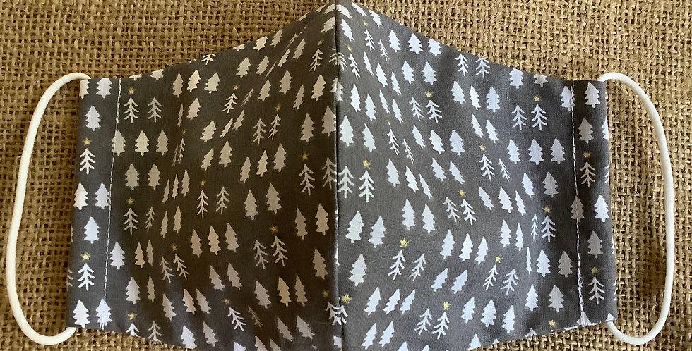 Men's Grey Christmas Tree Face Mask