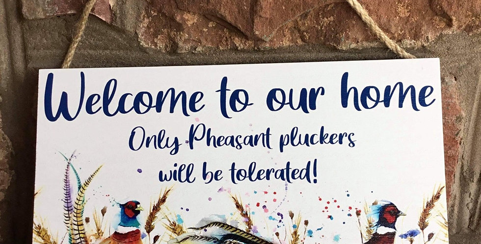 Pheasant Pluckers  plaque