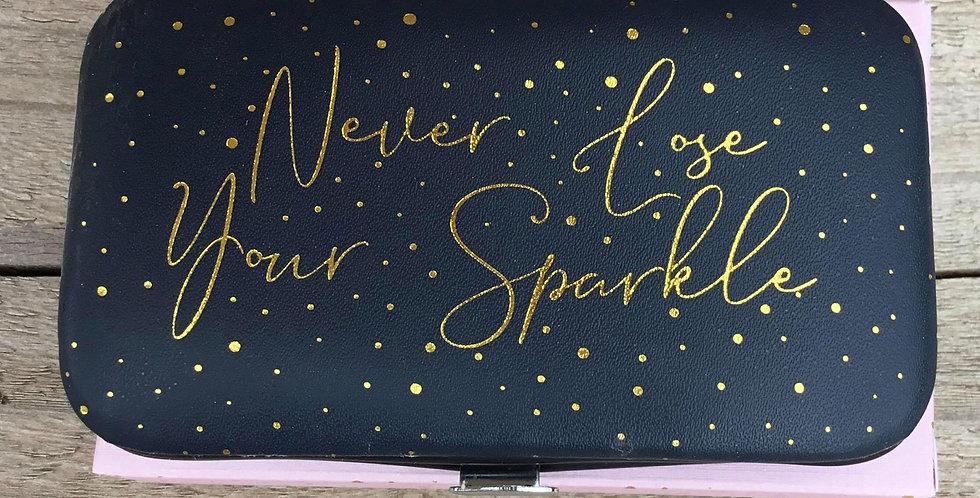 Midnight Blue Manicure Set - 'Never lose your sparkle'