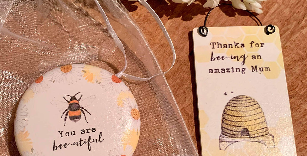 Bee Compact Mirror and Sign Gift Set