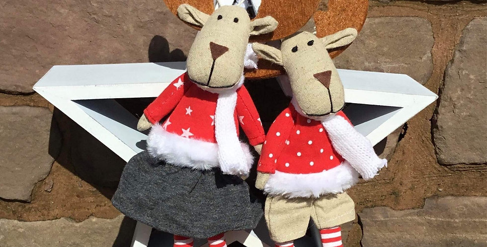 Billy and Milly Reindeer tree danglers