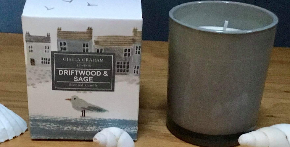 Driftwood and Sage boxed candle