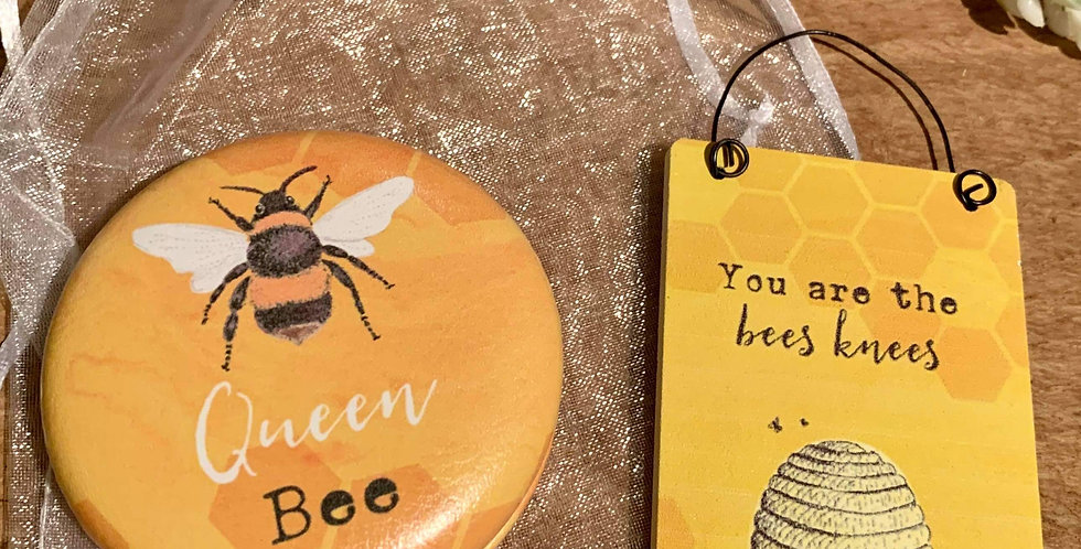 Bee Compact Mirror and Sign Gift