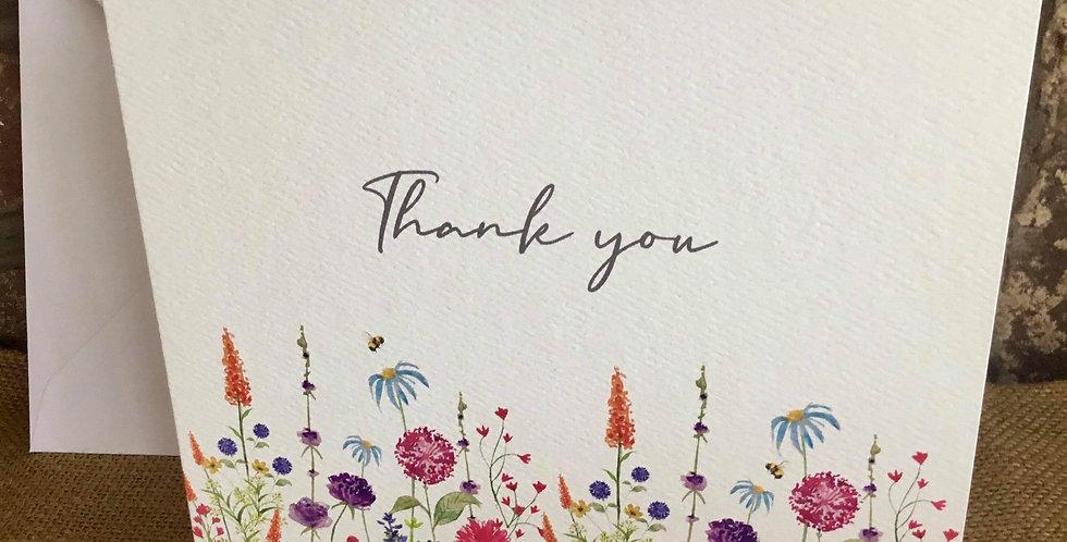 Flower Garden Thank You Card